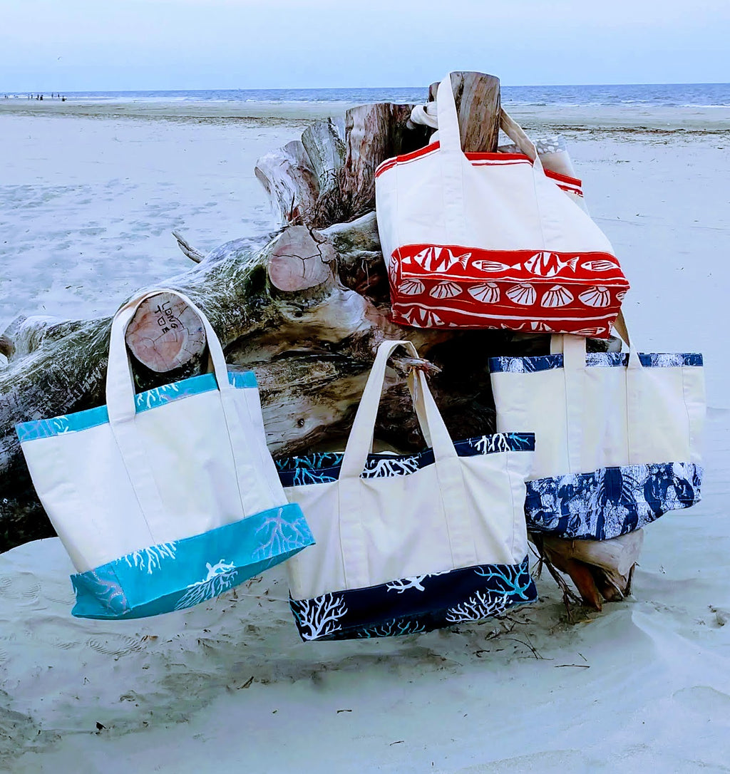 Bohicket Road Beach Tote