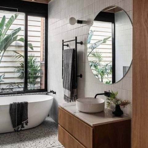 Frameless Bathroom Round Mirror