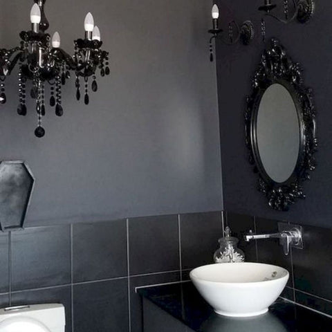 Ornate Bathroom Mirror