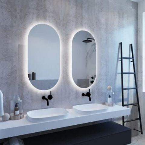 Ablaze So Premium Backlit Oval Bathroom Mirror