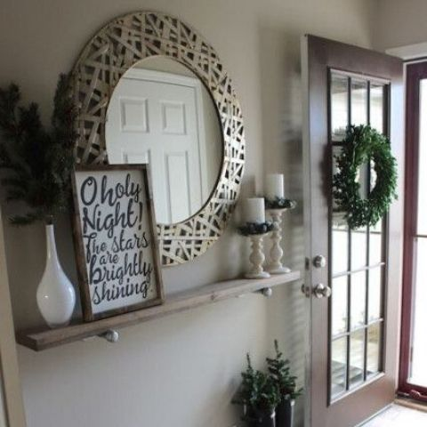 Antique style framed mirror