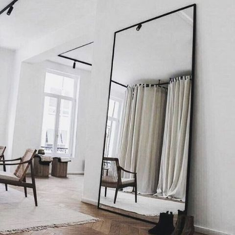 Black Frame Dress Mirror