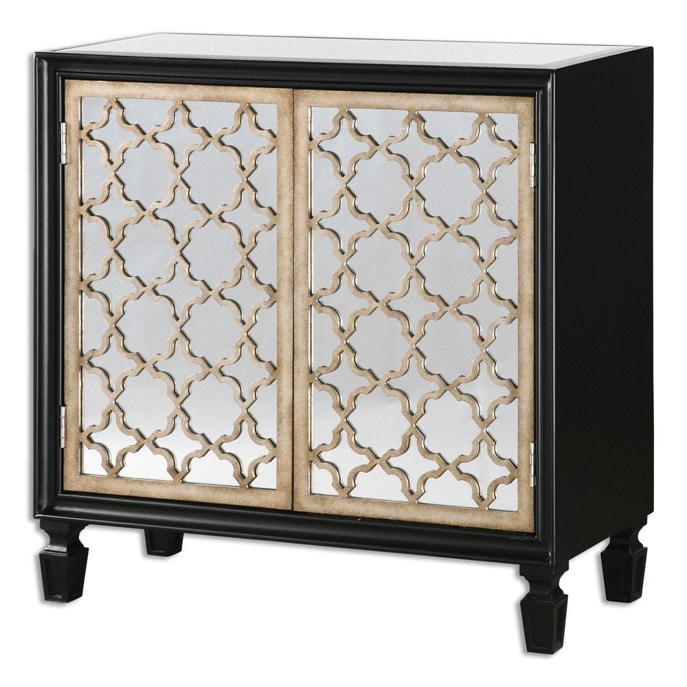Uttermost Franzea Mirrored Console Cabinet - 24498 Local