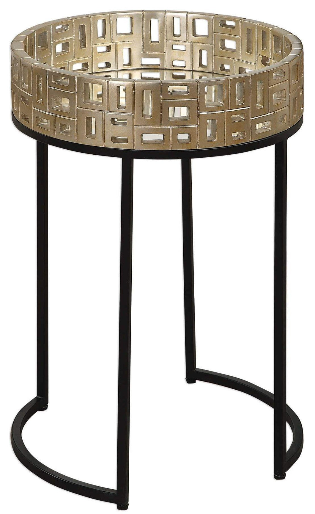 Uttermost Aven Mirrored Acent Table Local