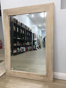 Marley Brushed Wood Mirror - mirrors-city-aus
