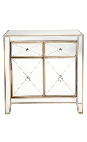 APOLO ANTIQUE GOLD MIRRORED CABINET