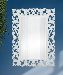 Marrakesh Wall Mirror White Washed - mirrors-city-aus