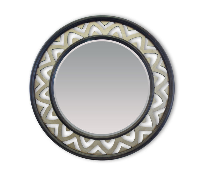PATA TRADITIONAL ROUND MIRROR GOLD BROWN - Mirror City