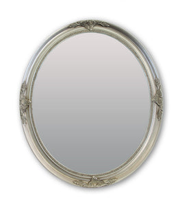 Saado French Provincial Ornate Oval Mirror Silver Local