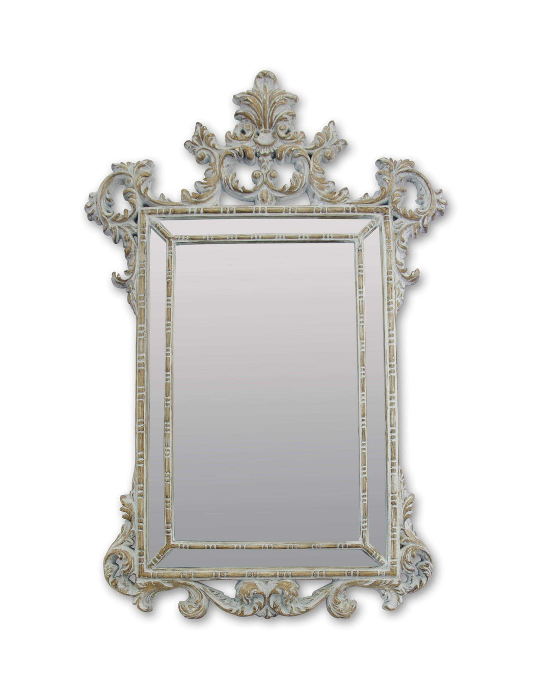 Isadora Art Deco Mirror (94W X 142H Cm) Whitewash Timber Imported