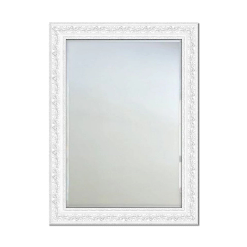 Cade Ornate Wall Mirror White Mirror City