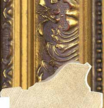 Load image into Gallery viewer, Elizabeth Traditional Ornate Embossed Gold Mirror