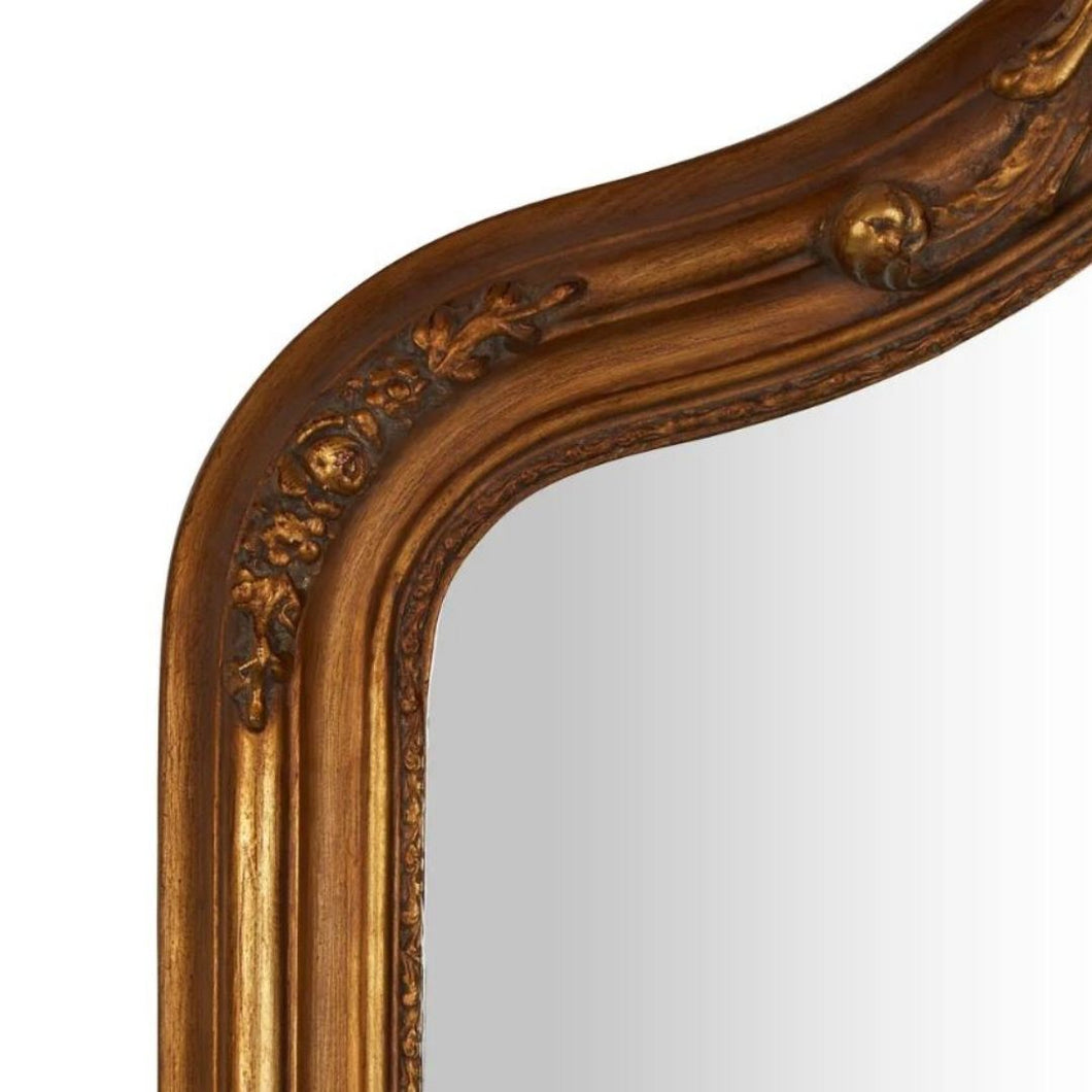 Irene Art Deco Mirror (90W X 140H Cm) Whitewash Timber Imported