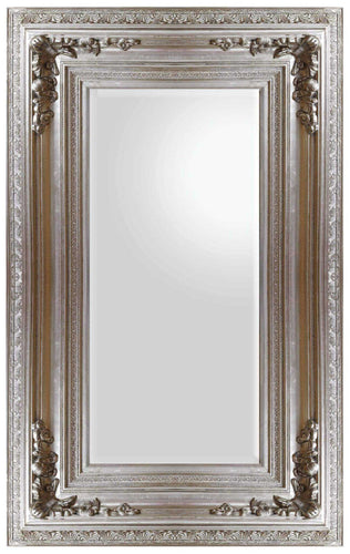 DHAMAKO FRENCH PROVINCIAL ORNATE MIRROR SILVER