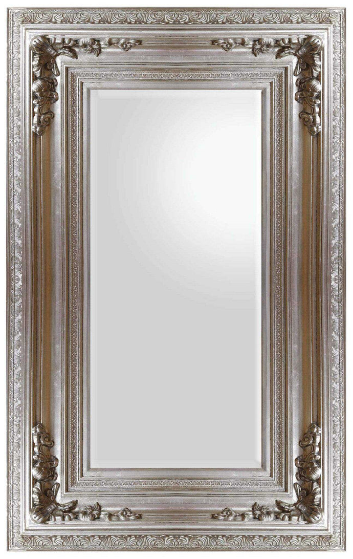 Dhamako french provincial ornate mirror silver mirror city for Miroir 40x60
