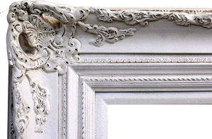 Kanan French Provincial Ornate Mirror Cream White Imported