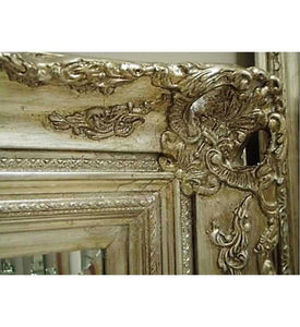 Kanan French Provincial Ornate Mirror Silver Imported