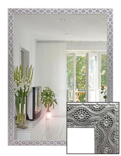 Silver Lace Metal Frame Wall Mirror