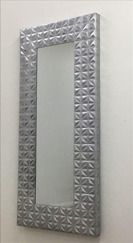 Silver Metallic Frame Full-Length Mirror