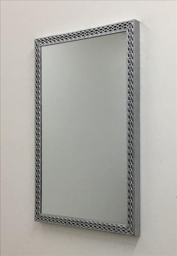 Silver Decorative Metal Frame Wall Mirror