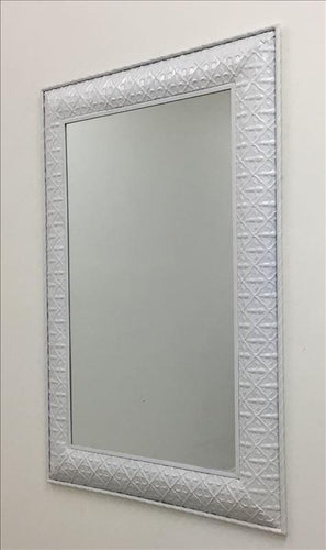 Matte White Classic Metal Frame Wall Mirror - mirrors-city-aus