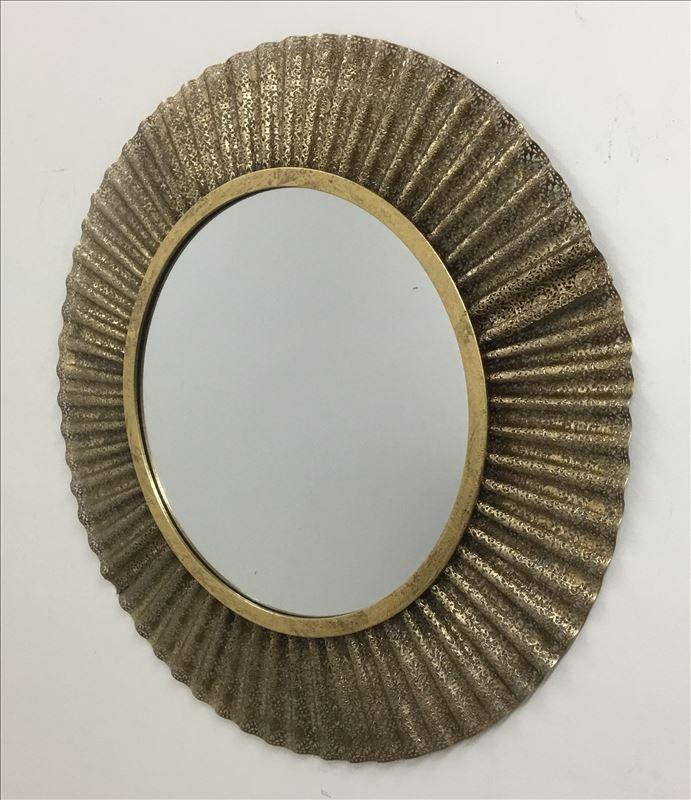 Gold Classic Round Metal Frame Wall Mirror