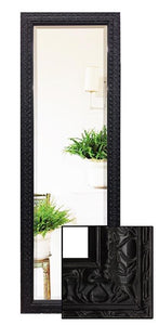 Black Decorative Embossed Full Length Dressing Mirror