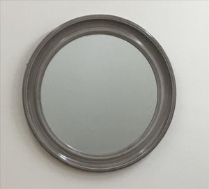 Antique Grey Glossy Frame Mirror