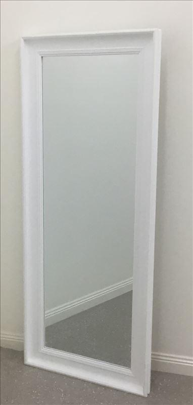 White Classic Frame Dressing Mirror - mirrors-city-aus