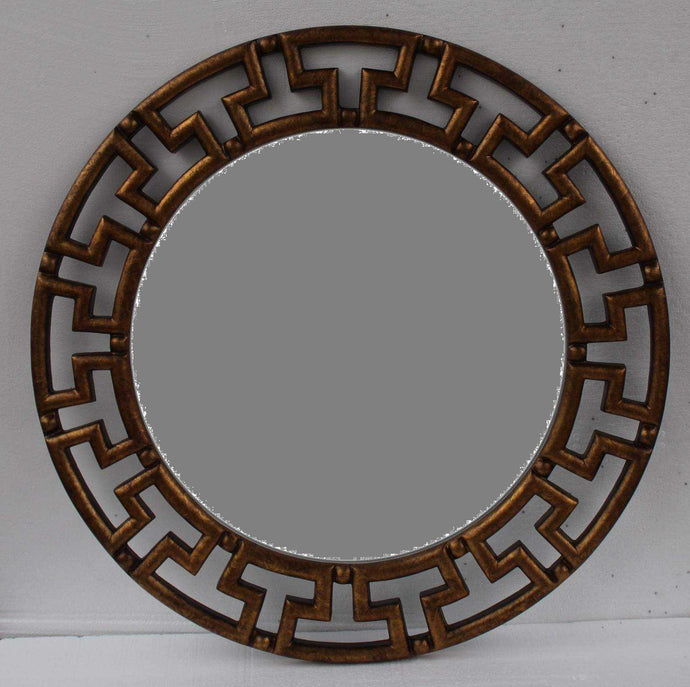 UBTO SUBTO TRADITIONAL ROUND MIRROR BROWN