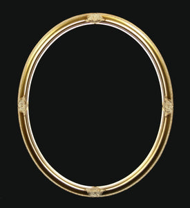 Fulton Oval Gold Wall Mirror Local