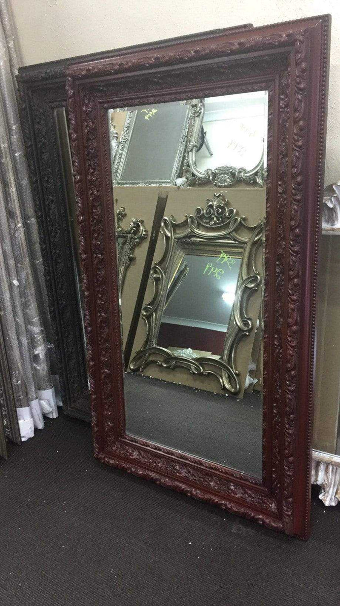 TAY KATHIYUN FRENCH PROVINCIAL ORNATE MIRROR MAROON
