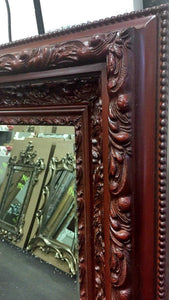 Tay Kathiyun French Provincial Ornate Mirror Maroon Imported
