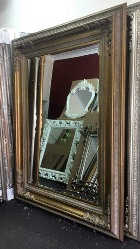 DHAMAKO FRENCH PROVINCIAL ORNATE MIRROR ANTIQUE GOLD