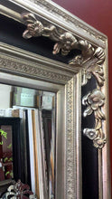 DHAMAKO FRENCH PROVINCIAL ORNATE MIRROR SILVER BLACK
