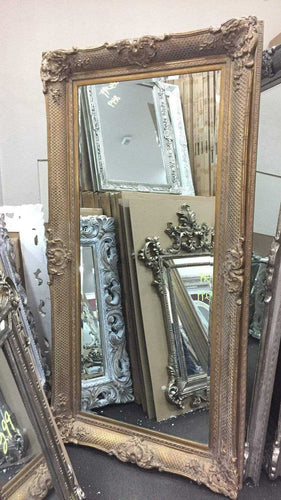 AZDAH FRENCH PROVINCIAL ORNATE MIRROR ANTIQUE GOLD - mirrors-city-aus