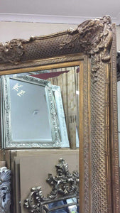 Azdah French Provincial Ornate Mirror Antique Gold Imported