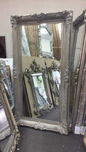 Load image into Gallery viewer, Azdah French Provincial Ornate Mirror Antique Silver Imported