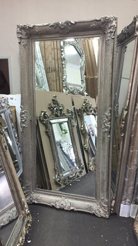 AZDAH FRENCH PROVINCIAL ORNATE MIRROR ANTIQUE SILVER