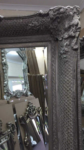 AZDAH FRENCH PROVINCIAL ORNATE MIRROR ANTIQUE SILVER - mirrors-city-aus
