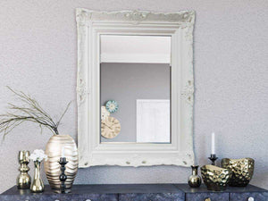 Kanan French Provincial Ornate Mirror White 96 X 126 Cm (24X36) Imported