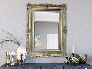 Kanan French Provincial Ornate Mirror Silver 96 X 126 Cm (24X36) Imported