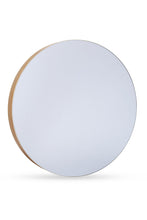 NORMA SCANDI NATURAL WOOD ROUND WALL MIRROR