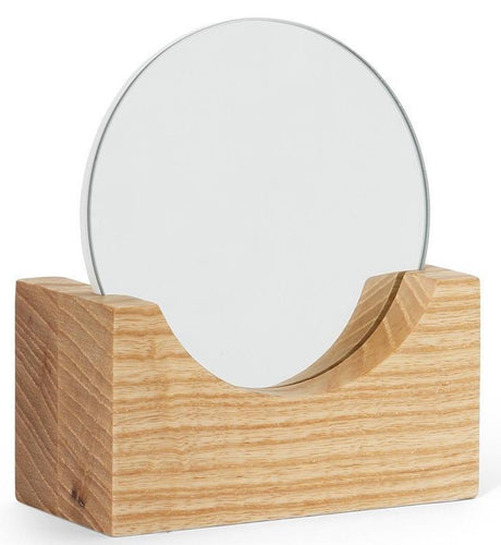 VERITY NATURAL WOOD ROUND MIRROR - SET OF 2