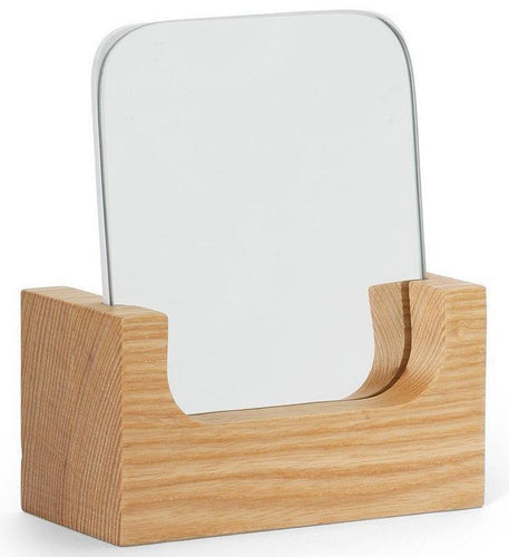 VERITY NATURAL WOOD SQUARE MIRROR - SET OF 2