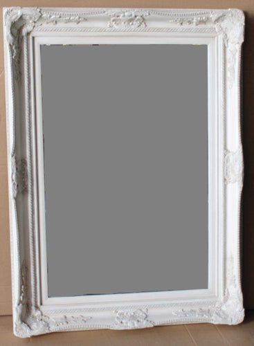 WICHOO FRENCH PROVINCIAL ORNATE MIRROR WHITE