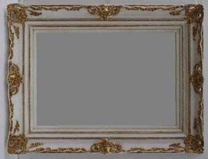 KANAN FRENCH PROVINCIAL ORNATE MIRROR GOLD WHITE 96 x 126 CM (24X36) - mirrors-city-aus