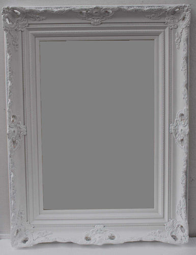 KANAN FRENCH PROVINCIAL ORNATE MIRROR WHITE