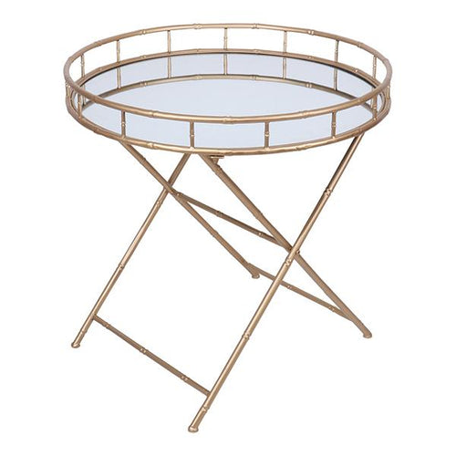 MATTAN GOLD MIRRORED SIDE TABLE