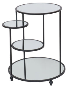 HAYDEN BLACK MIRRORED SIDE TABLE
